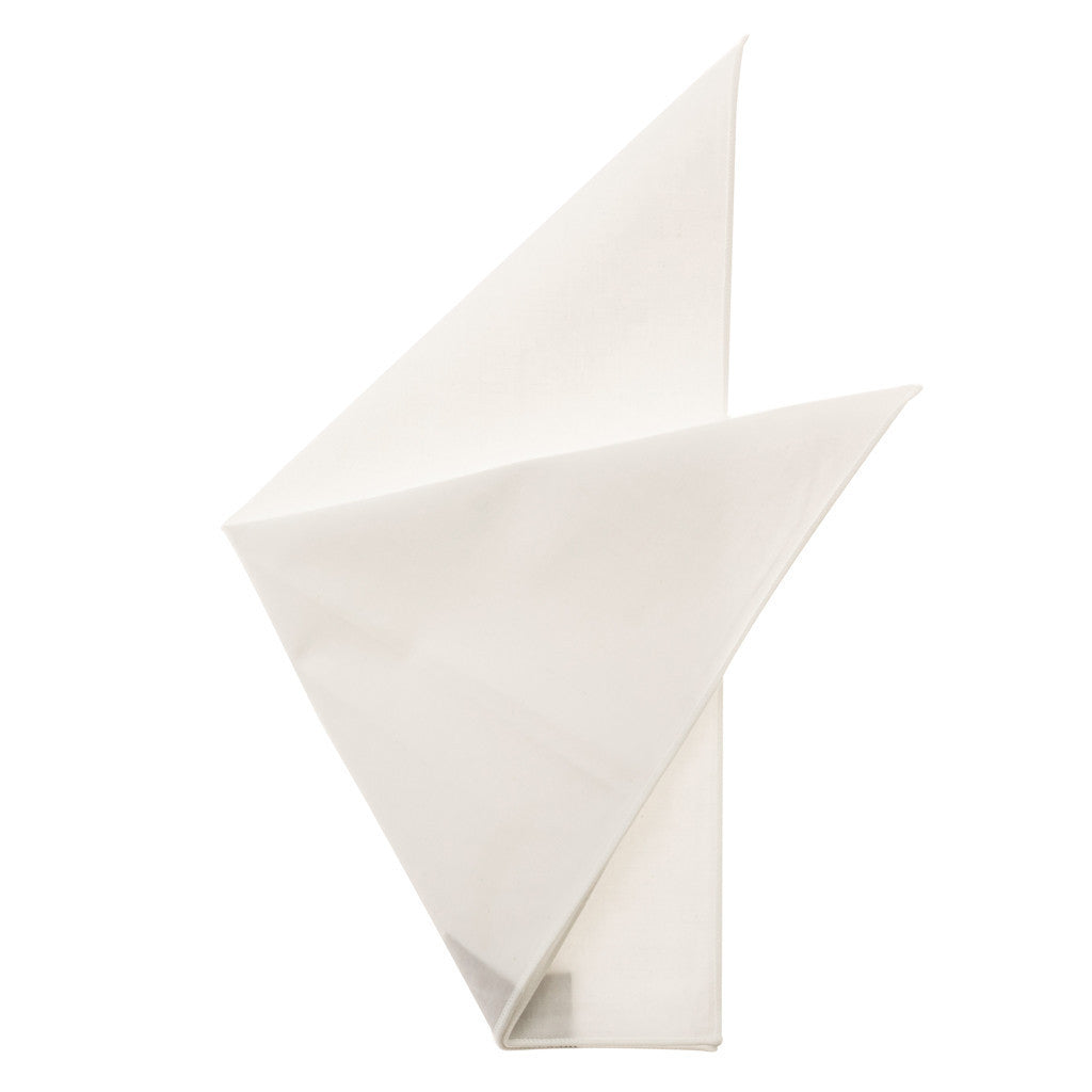 Cotton Pocket Square - Martha White Cotton Pocket Square