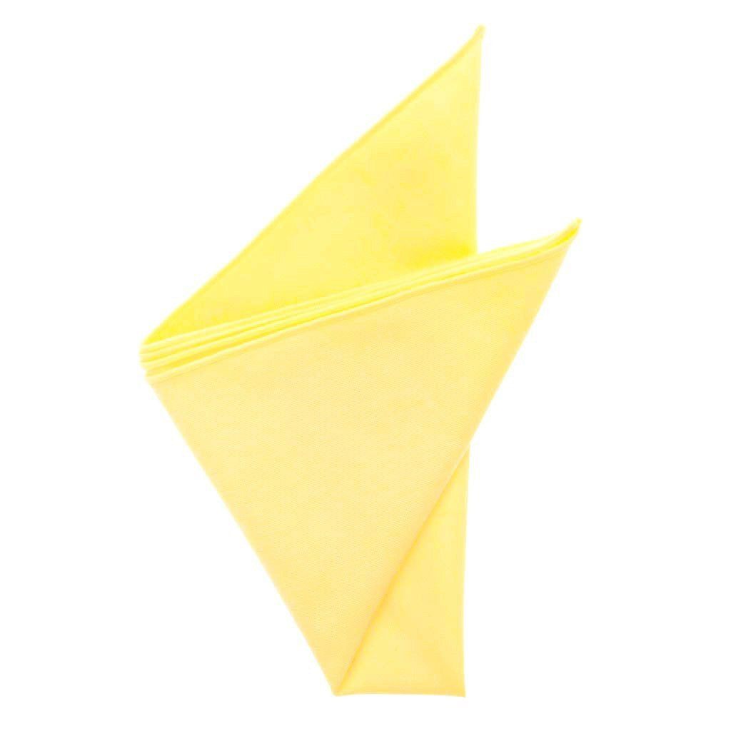 Cotton Pocket Square - Mindy Butter Yellow Pocket Square