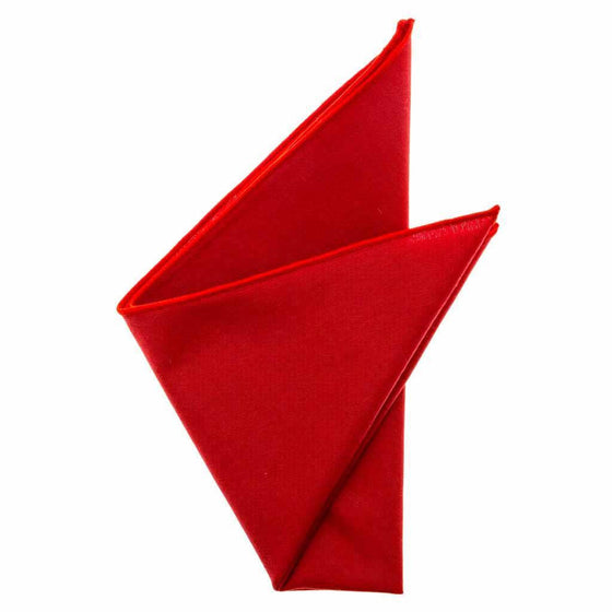 Cotton Pocket Square - Mindy Cardinal Red Pocket Square