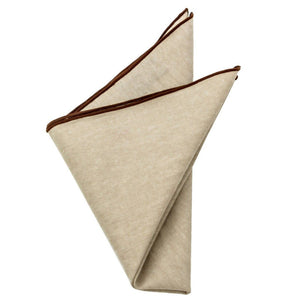 Cotton Pocket Square - Nathaniel Khaki Pocket Square