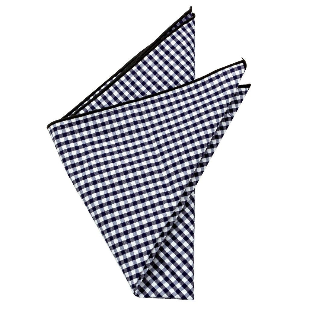 Cotton Pocket Square - Prescott Gingham Pocket Square