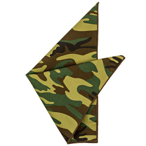 Cotton Pocket Square - Sherman Camouflage Pocket Square