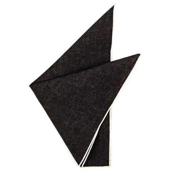 Cotton Pocket Square - Strauss Indigo Denim Pocket Square