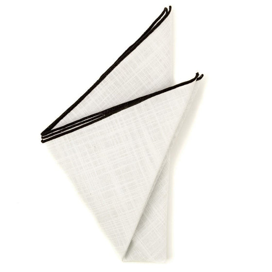 Cotton Pocket Square - Warren White Cotton Pocket Square