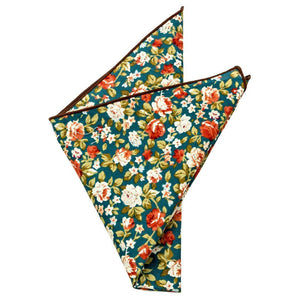 Cotton Pocket Square - Wesley Floral Pocket Square