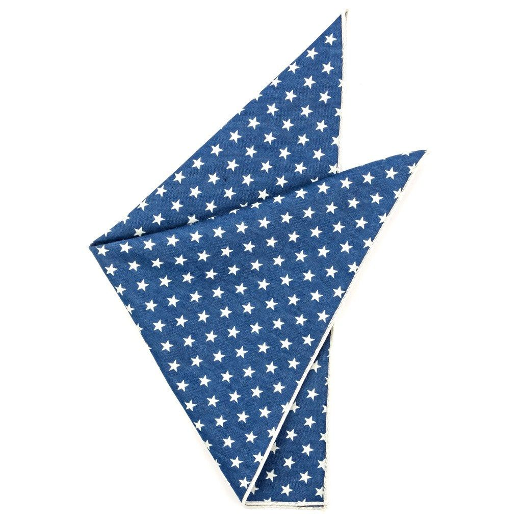 Cotton Pocket Square - Zachary Denim Pocket Square