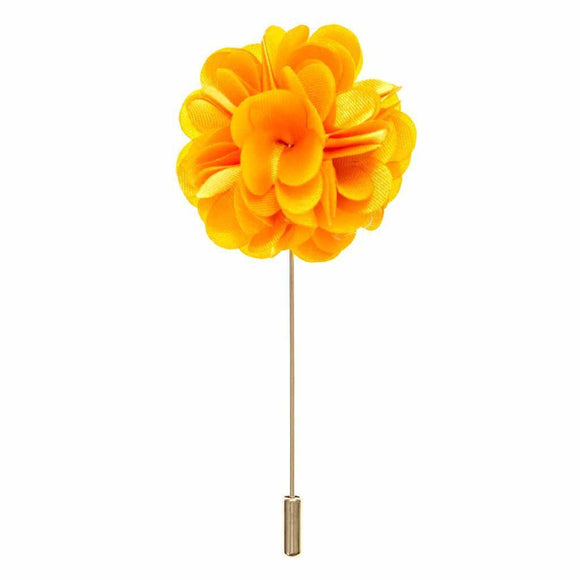 Lapel Pin - Amber Boutonniere Flower Lapel Pin