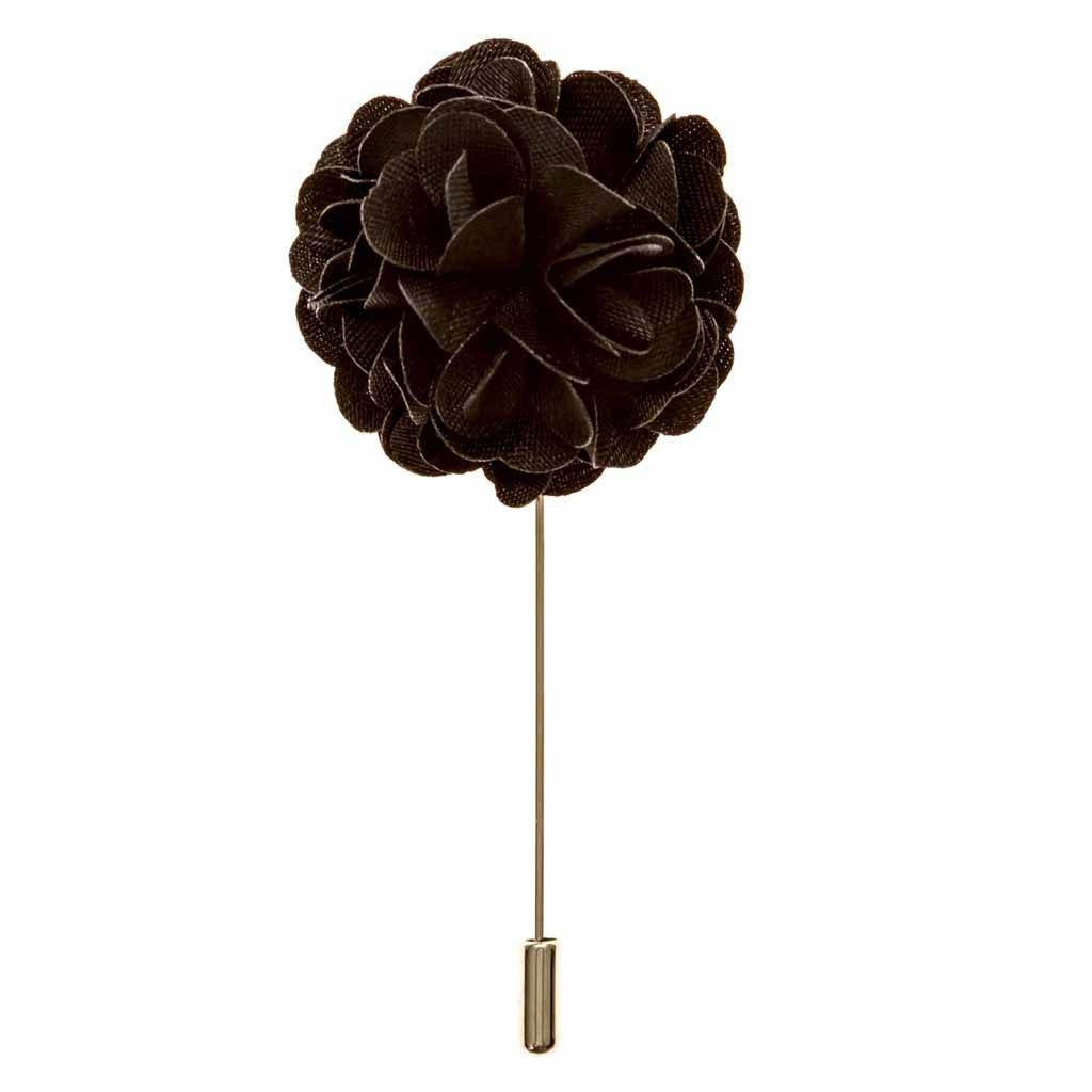 Lapel Pin - Black Boutonniere Flower Lapel Pin