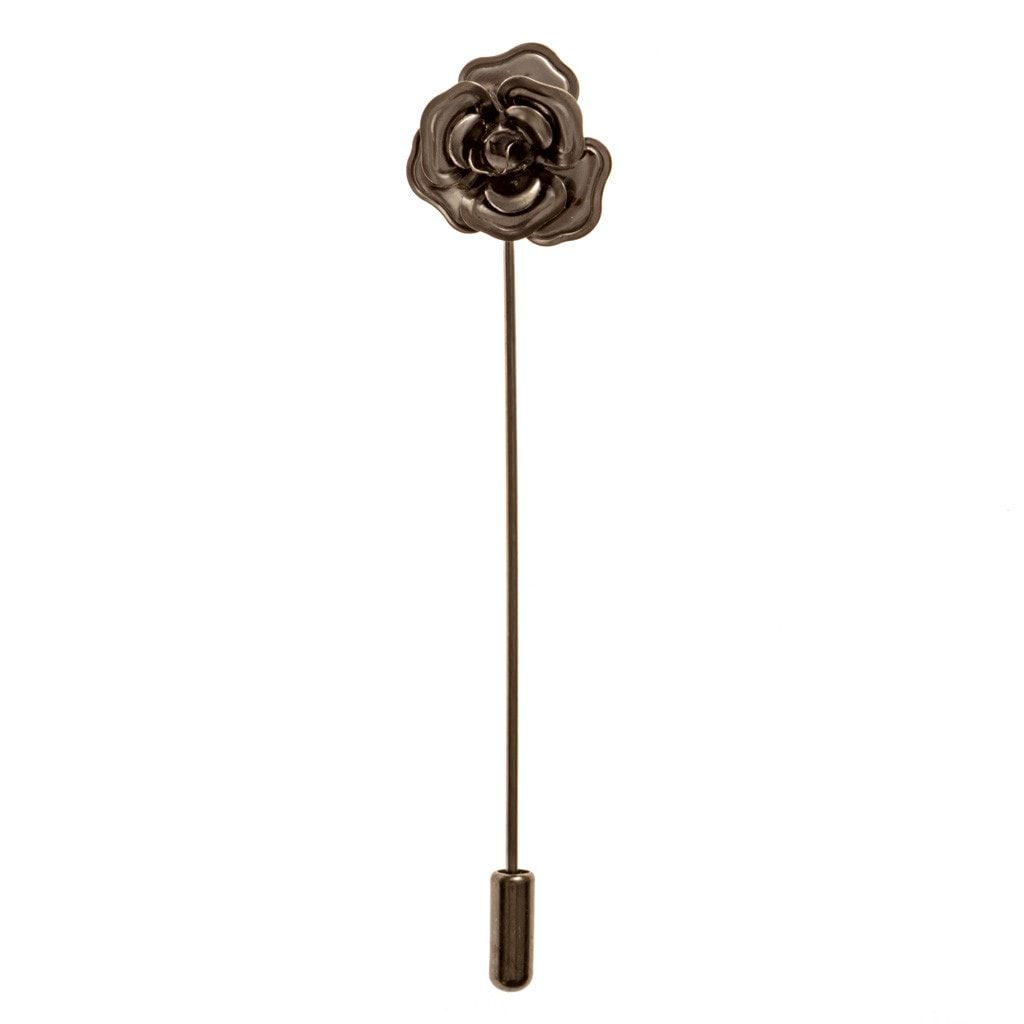 Lapel Pin - Black Rose Lapel Pin