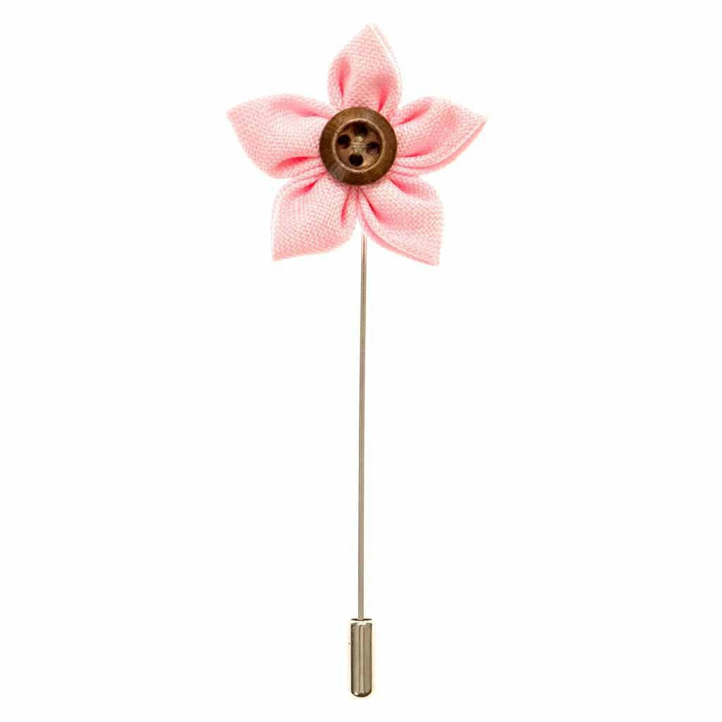 Lapel Pin - Blush Button Flower Lapel Pin