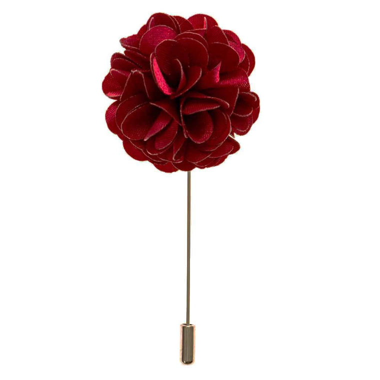 Lapel Pin - Burgundy Boutonniere Flower Lapel Pin