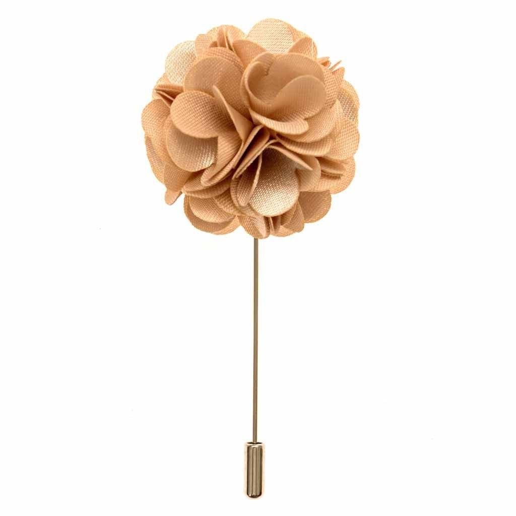 Lapel Pin - Champagne Boutonniere Flower Lapel Pin