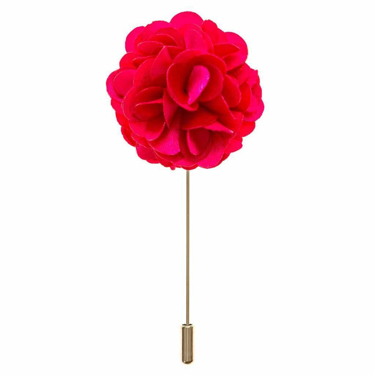 Lapel Pin - Fuchsia Boutonniere Flower Lapel Pin