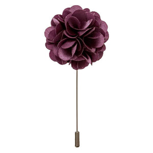 Lapel Pin - Plum Boutonniere Flower Lapel Pin