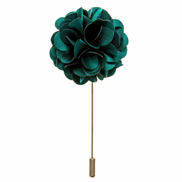 Lapel Pin - Teal Green Boutonniere Flower Lapel Pin