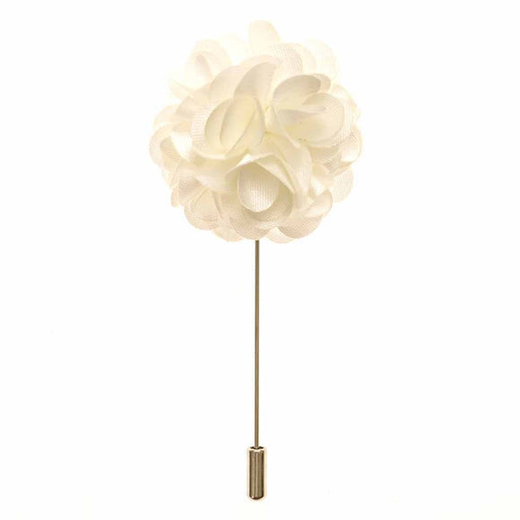 Lapel Pin - White Boutonniere Flower Lapel Pin