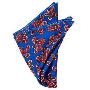 Silk Pocket Square - Archer Silk Paisley Pocket Square
