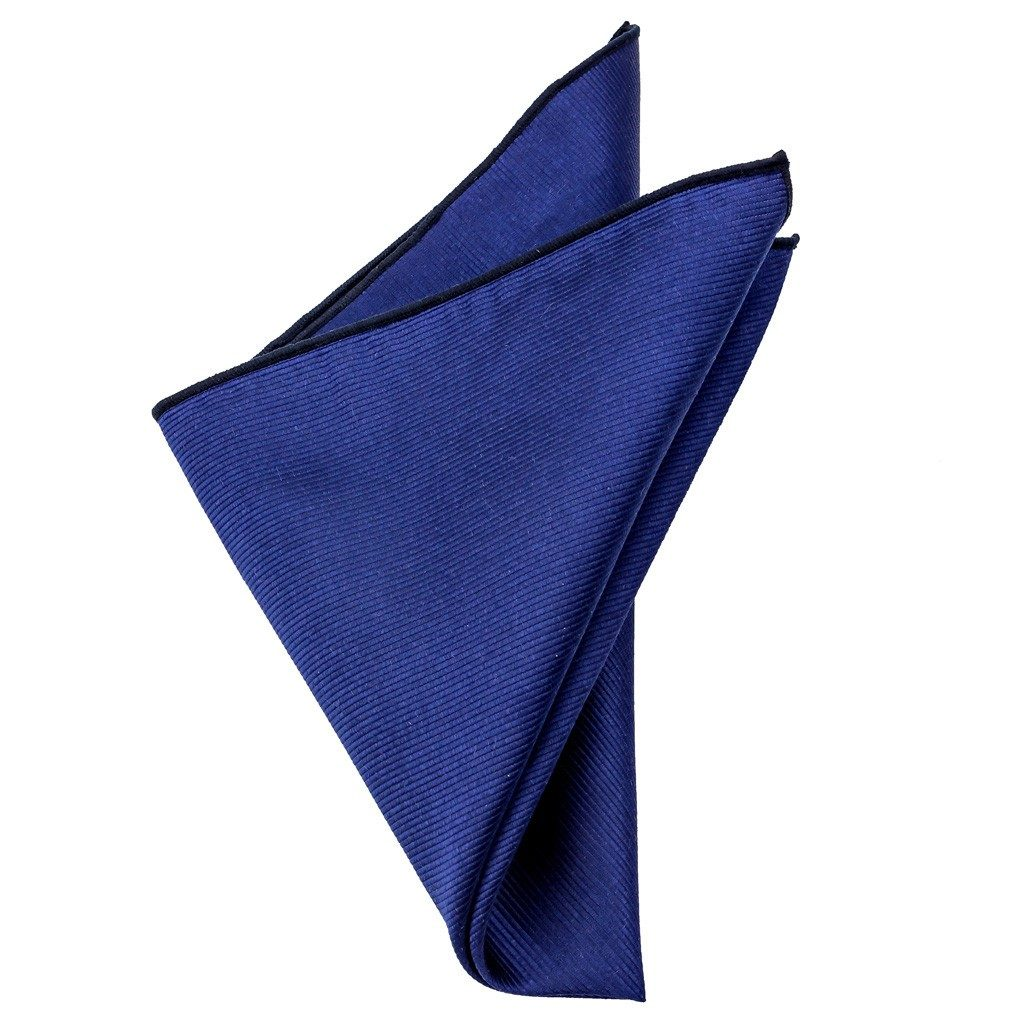 Silk Pocket Square - Brooks Blue Silk Pocket Square