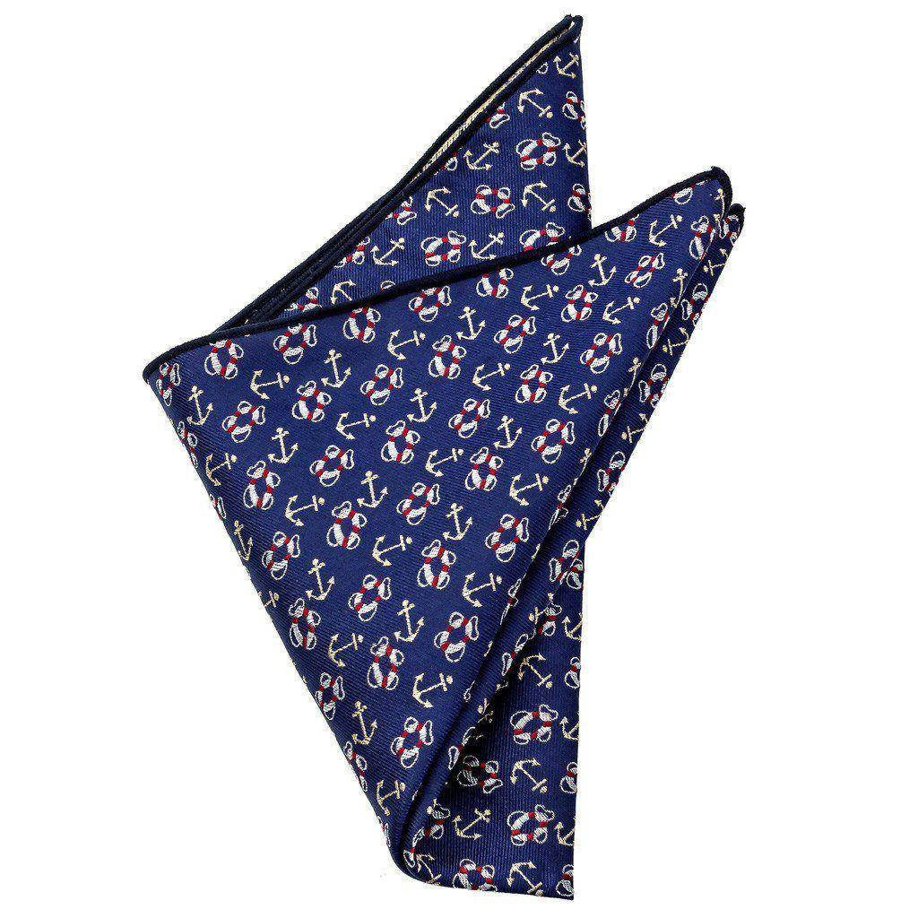 Silk Pocket Square - Stayton Nautical Silk Pocket Square