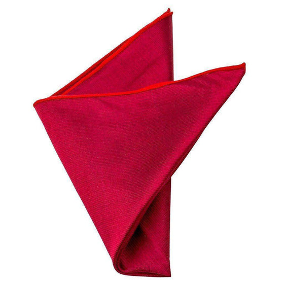 Silk Pocket Square - Thatcher Red Silk Pocket Square