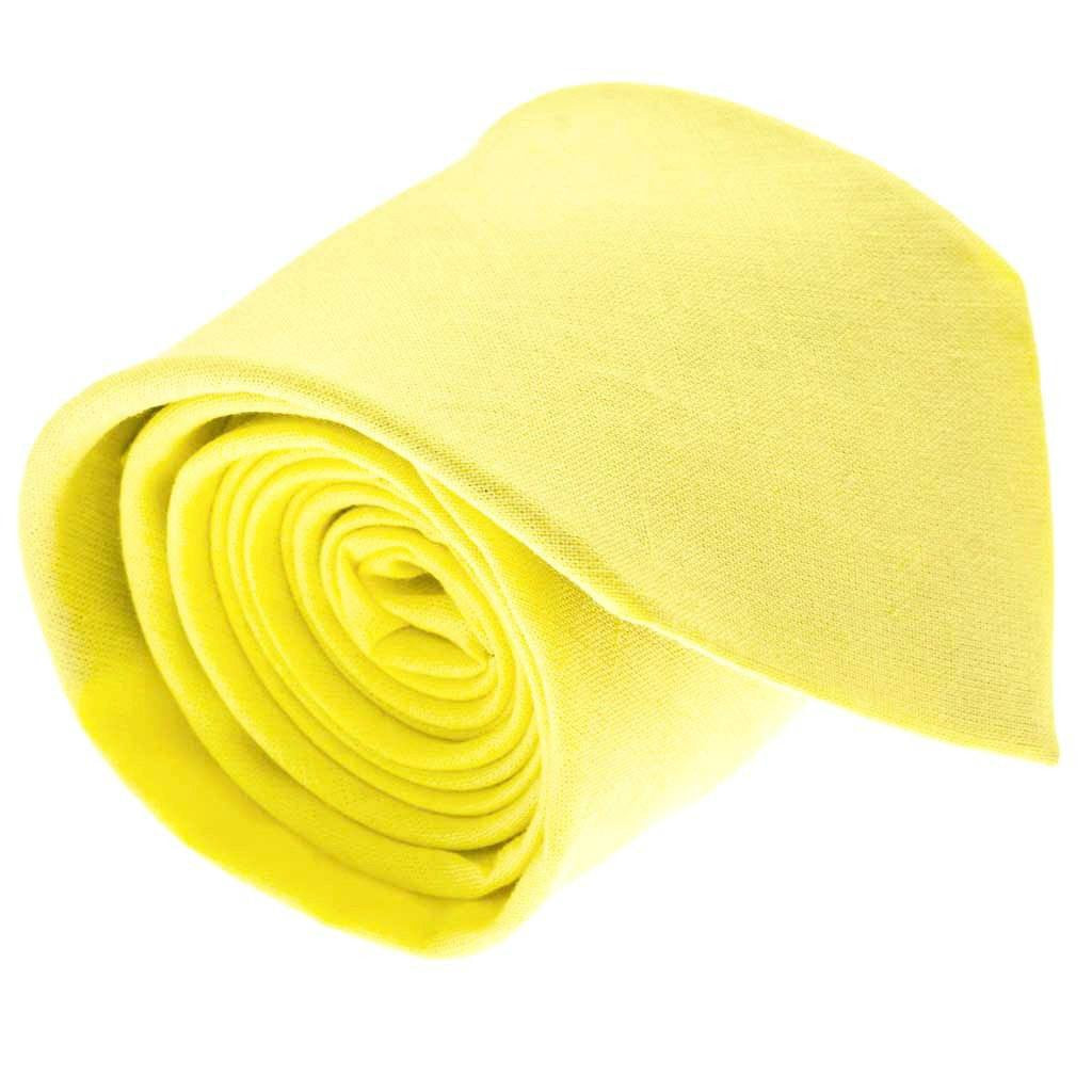 Tie - Canary Yellow Linen Tie