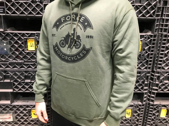Force Motorcycles Hoodie - Green