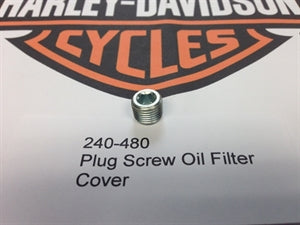 Plug Screw Oil Filter Cover