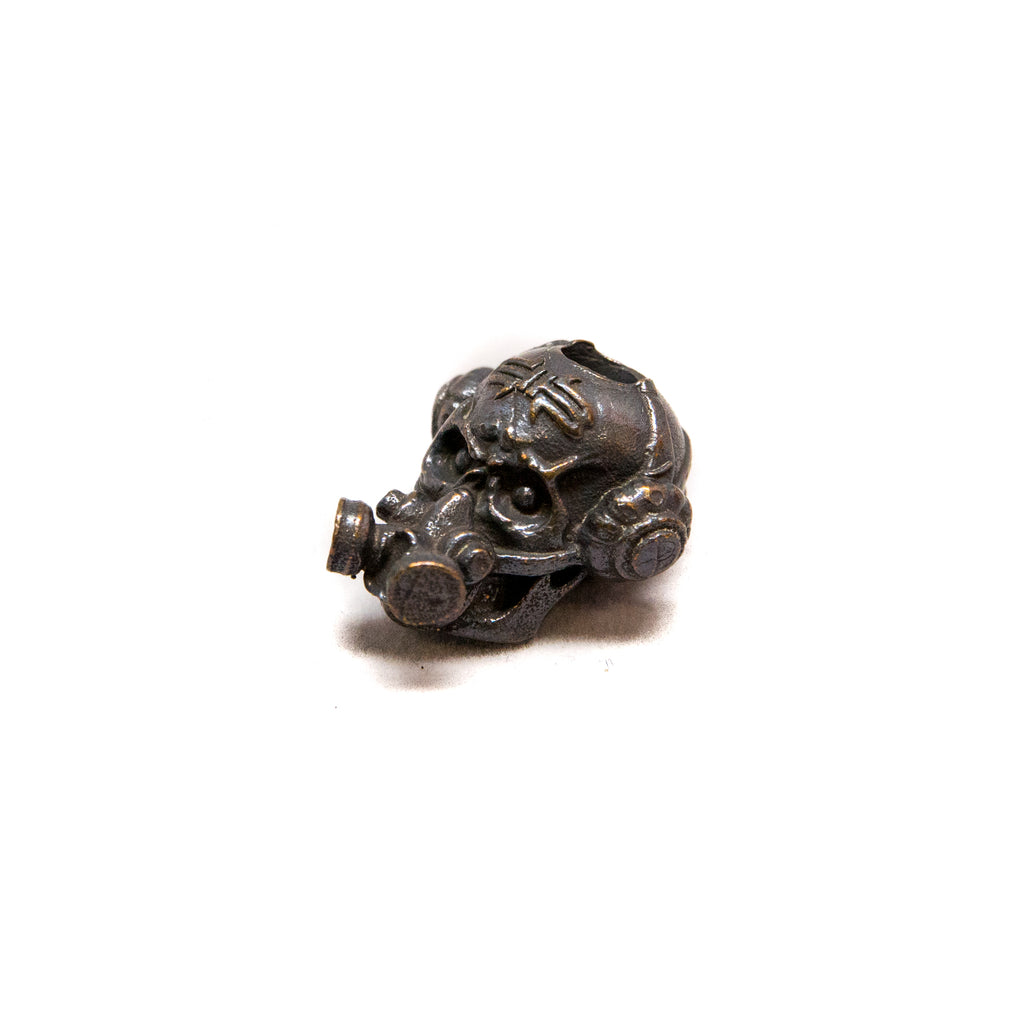 Brous Gas Mask Skull Bead, Logo - Solid Oil Rubbed Bronze