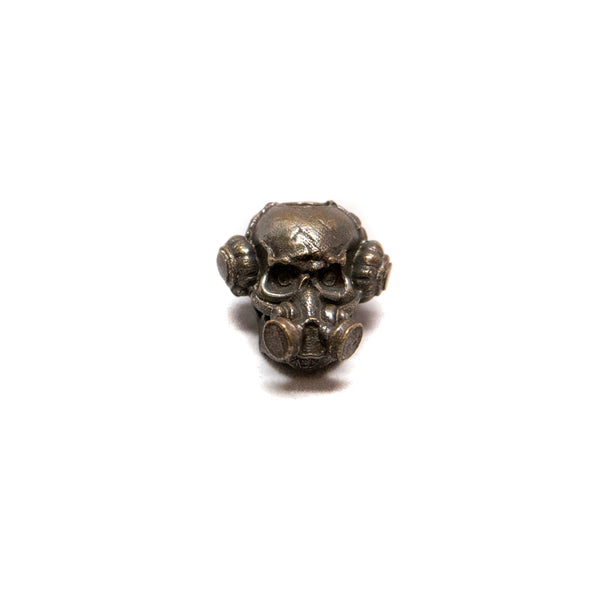 Brous Gas Mask Skull Bead, No Logo - Solid Oil Rubbed Bronze