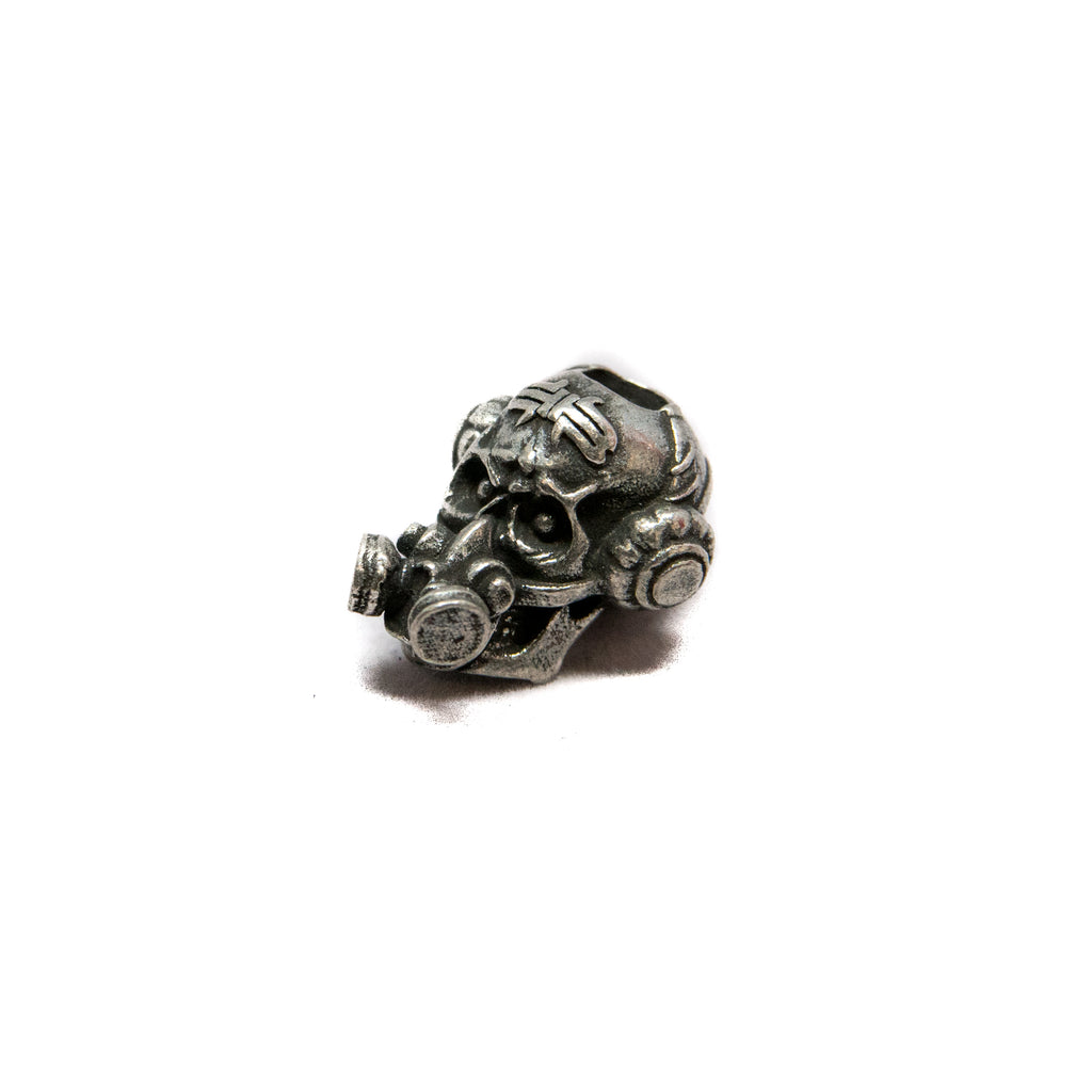 Brous Gas Mask Skull Bead
