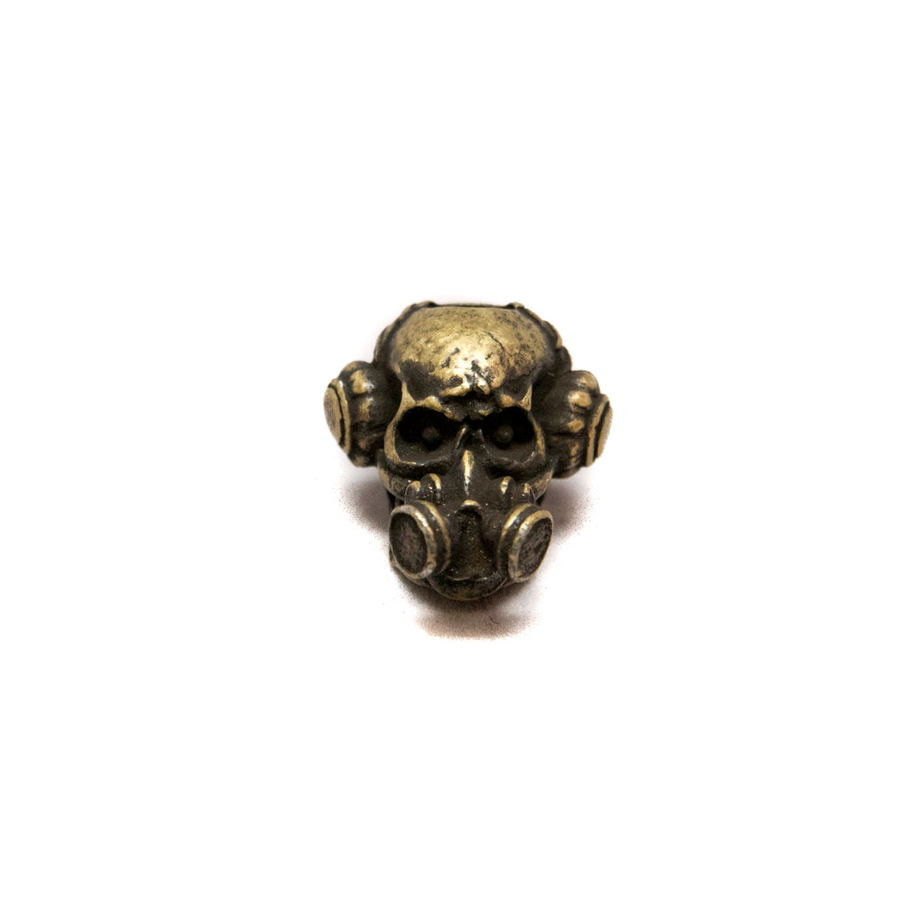 Brous Gas Mask Skull Bead, No Logo