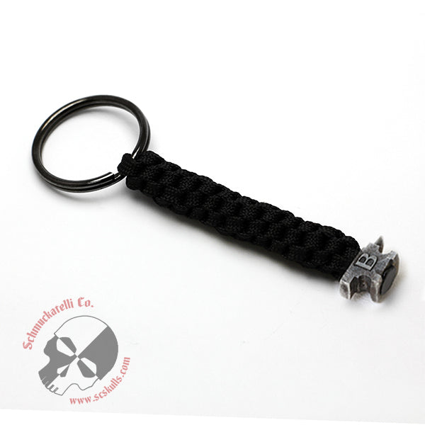 Buck Anvil Bead Key Fob - Black with Black Ox. Bead