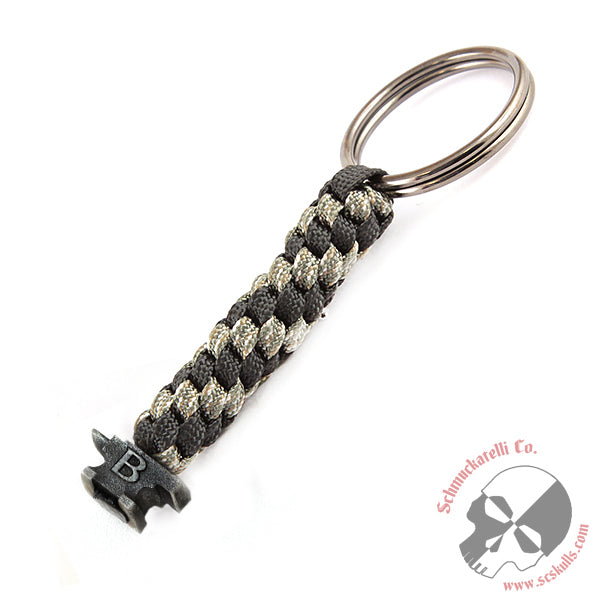 Buck Anvil Bead Key Fob - Camo with Black Ox. Bead