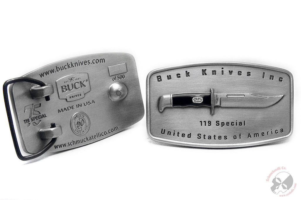Limited Edition Buck Knives® Serialized Belt Buckle