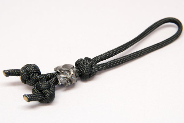 Cyber Triple Diamond Knot Zipper Pull Hematite Matte - Closeout