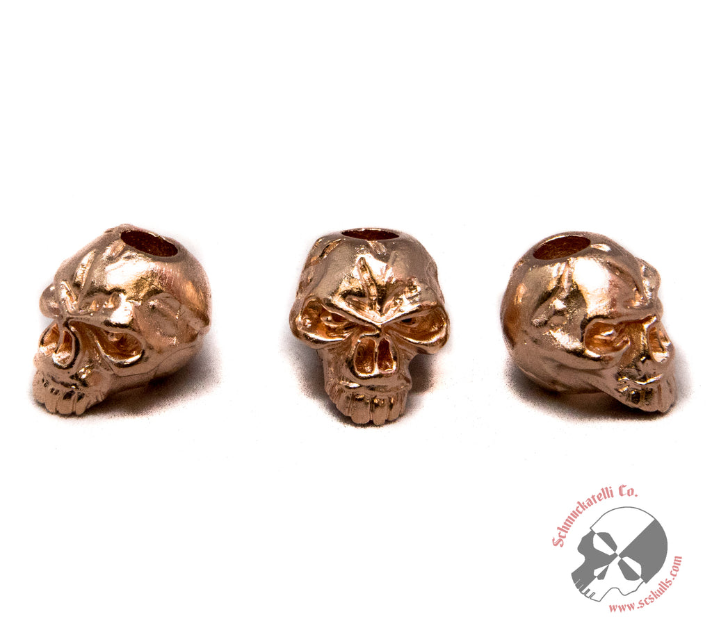 Emerson Skull Bead - Matte Rose Gold