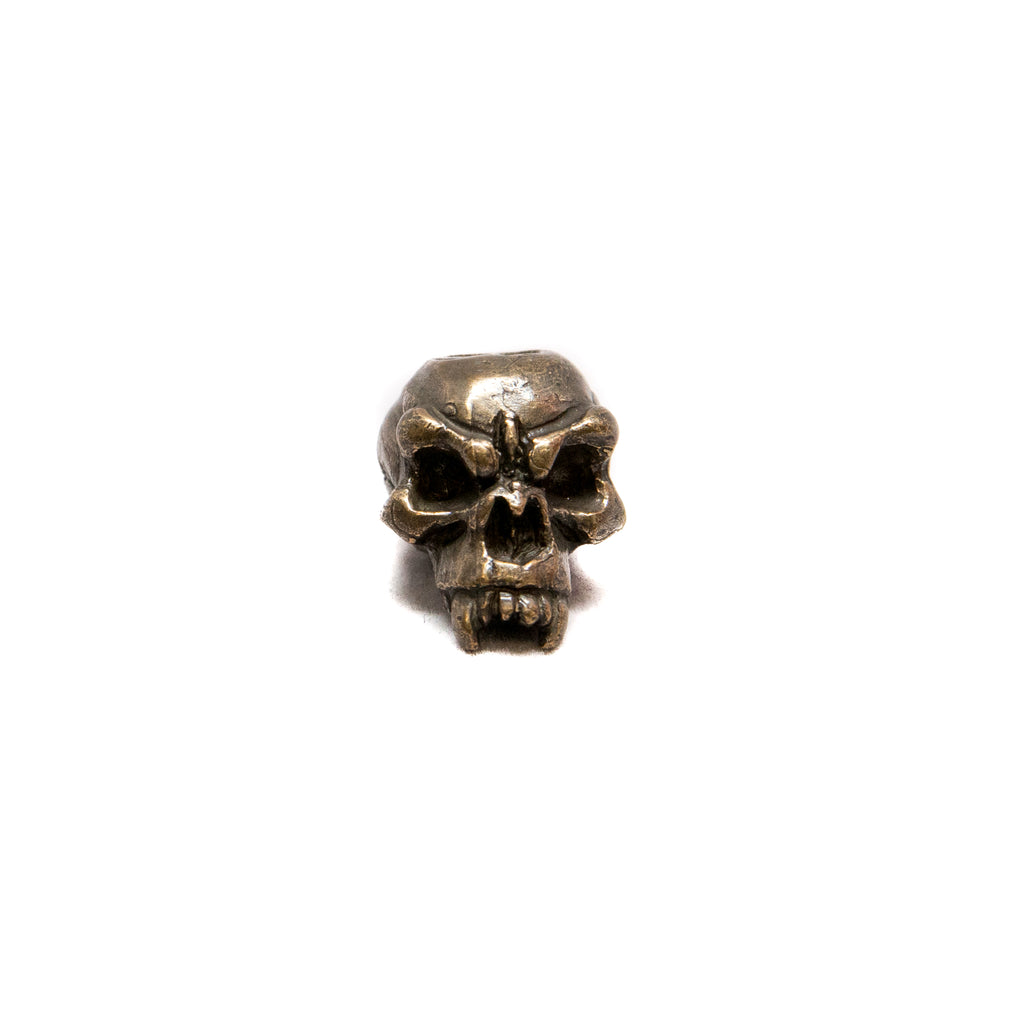 Fang Skull Bead - Solid Oil Rubbed Bronze