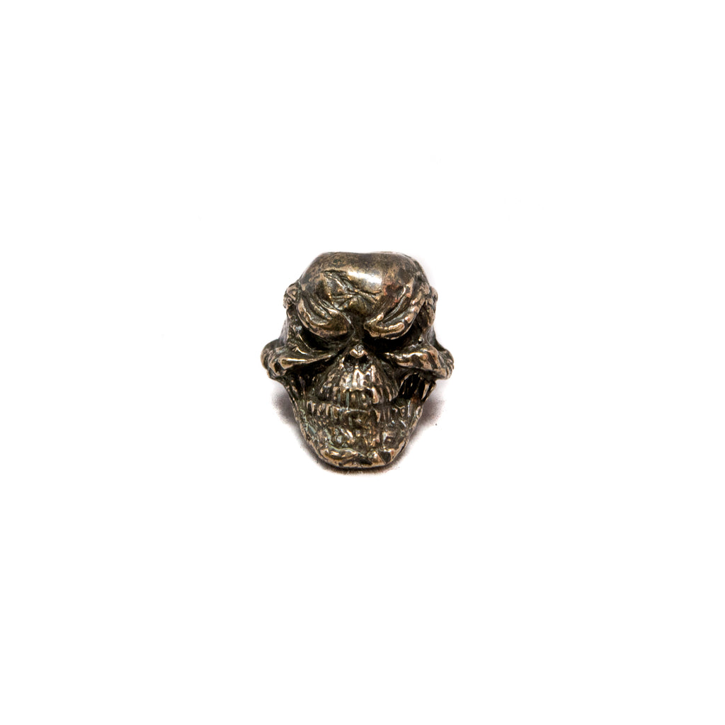 Grins Skull Bead - Solid Oil Rubbed Bronze