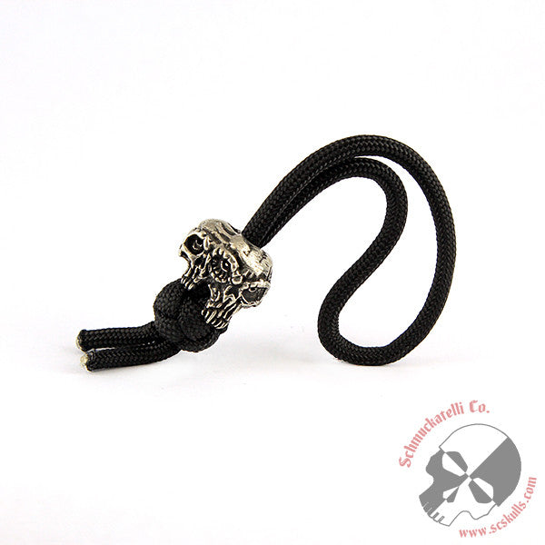 Gemini Twins Diamond Knot  Zipper Pull