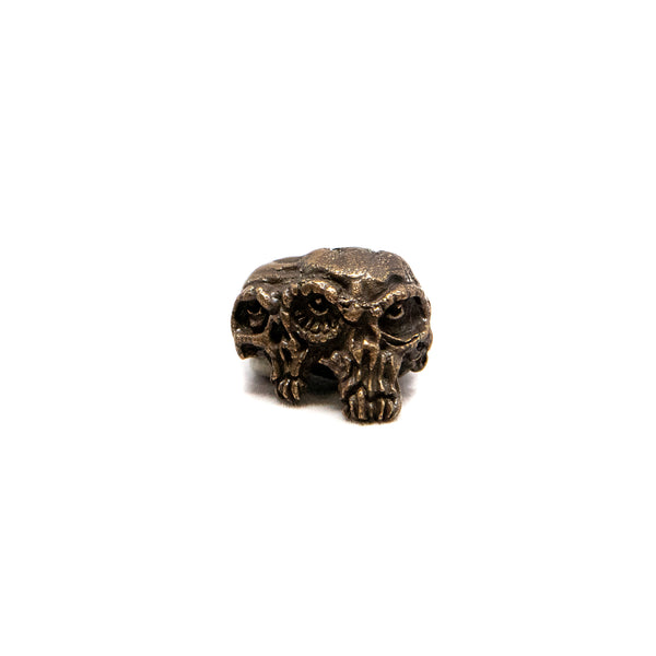 Gemini Twins Skull Bead  - Solid Oil Rubbed Bronze