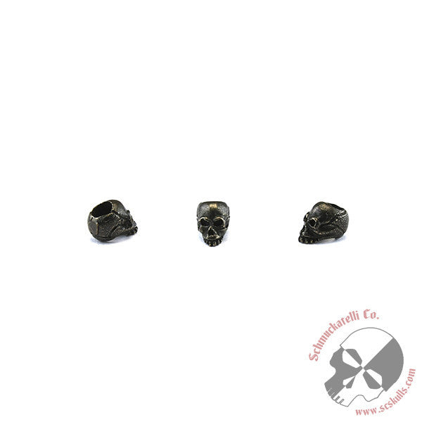 "Joe Mini Skull Bead (3/16"" Hole) - Solid Oil Rubbed Bronze"