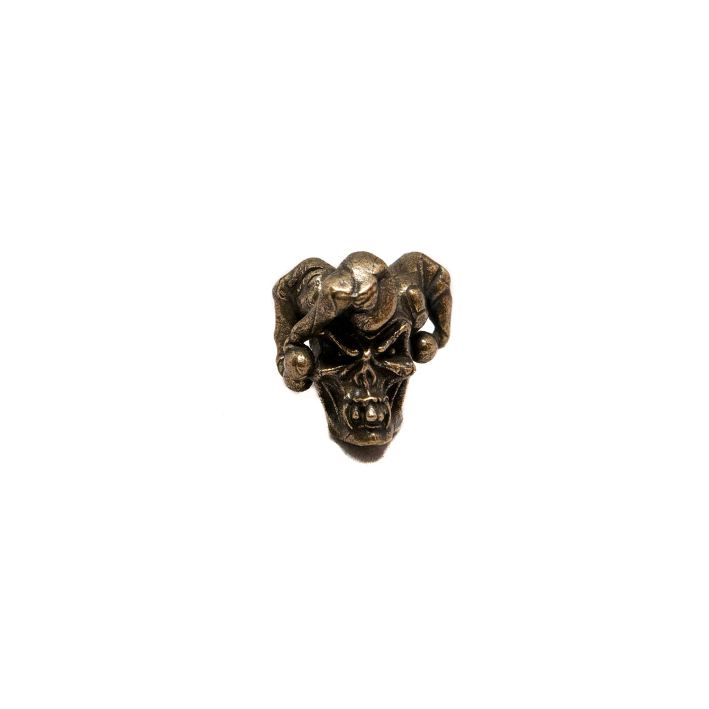 Jester Skull Bead - Solid Oil Rubbed Bronze