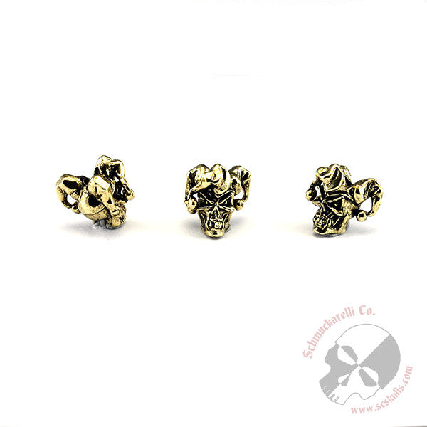 "Jester Mini Skull Bead 1/8"" Hole"