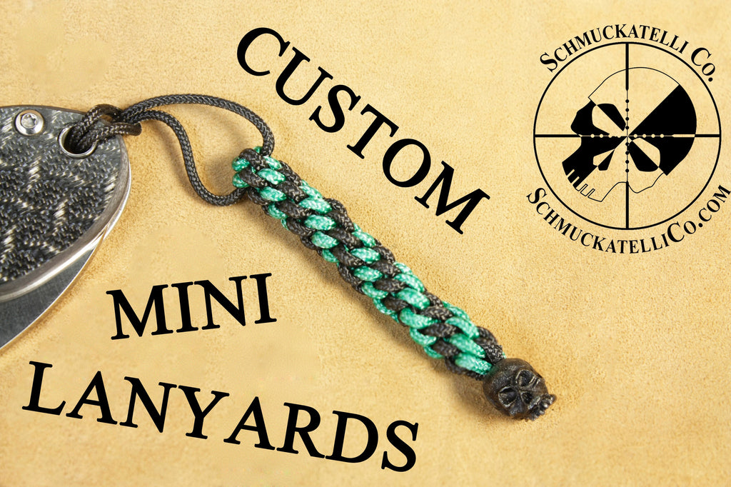 Custom Mini Lanyard - Black + Color of Your Choice