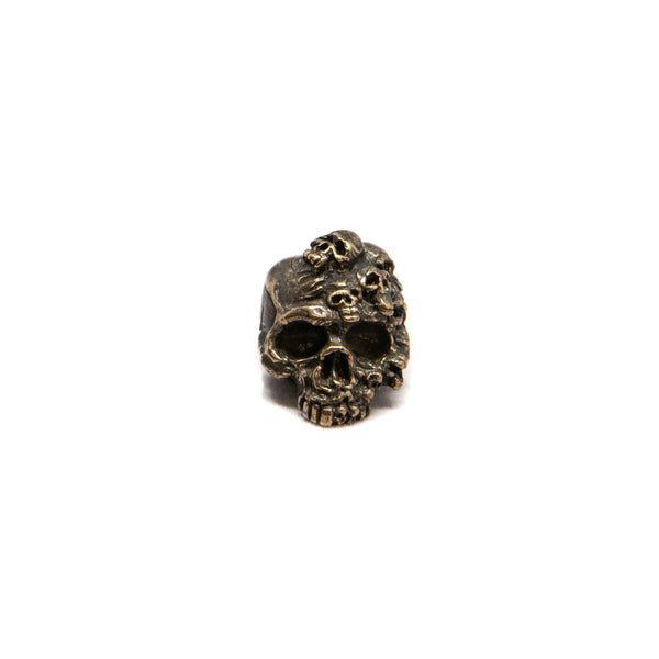 Mind Skull Bead - Solid Bronze