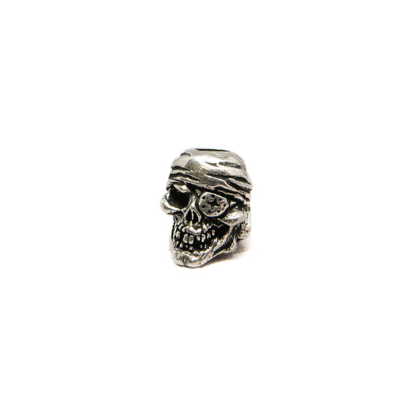 One-Eyed Jack Skull Bead