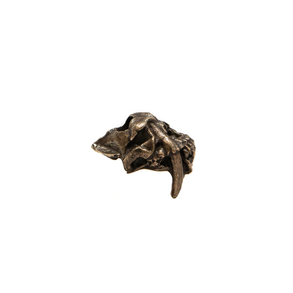 Sabretooth Skull Bead - Solid Oil Rubbed Bronze