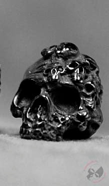 Mind Skull Bead - Black Titanium