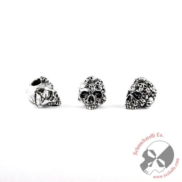 Mind Skull Bead - Solid Sterling Silver