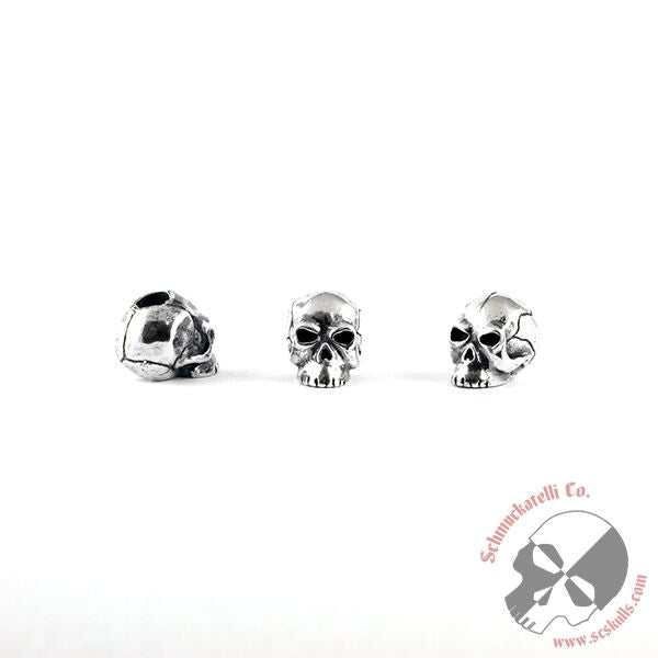 Classic Skull Bead - Solid Sterling Silver
